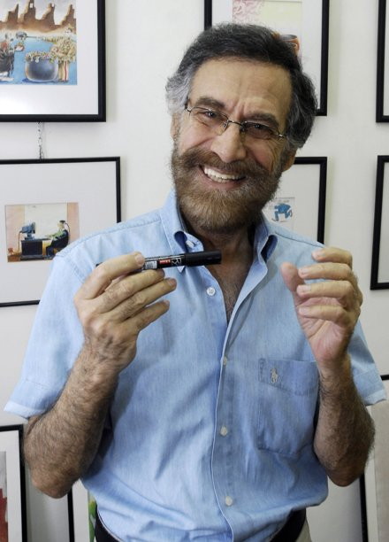 费尔萨特是叙利亚著名的漫画艺术家