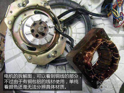 对普通用户来说拆机分辨是否为铝线电机还是比较困难的一...