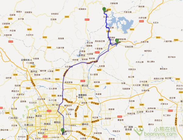 先从北京市里到密云水库图片