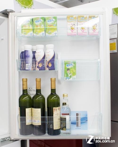 海尔bcd-268wbcs全无霜冰箱门上空间展示