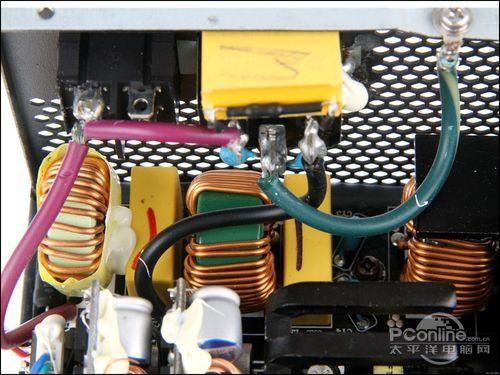 长城 金牌巨龙 1250w电源-二级emi滤波电路