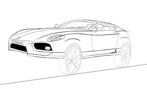 与此同时,保时捷cajun车型的手绘设计图也首次在网络上曝光,从外观