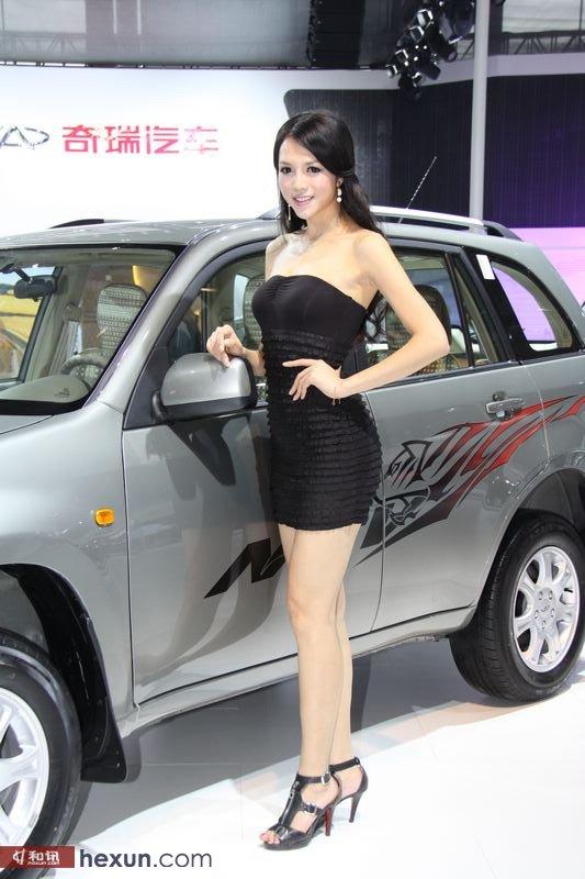 广州车展实拍 奇瑞瑞虎展台车模高清图片