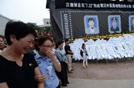 陕西延川万名群众追悼抢险英雄