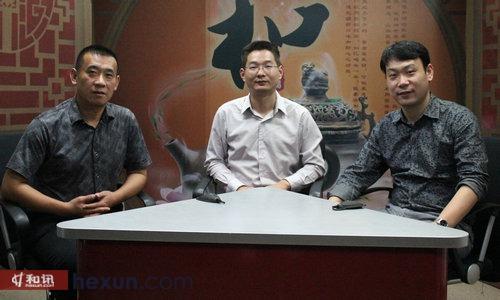 济南量化投资学会会长王文生(左)和私募总经理李伟(右)