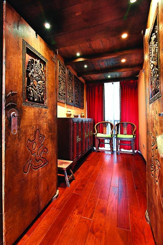 中式民居墙壁装修图片