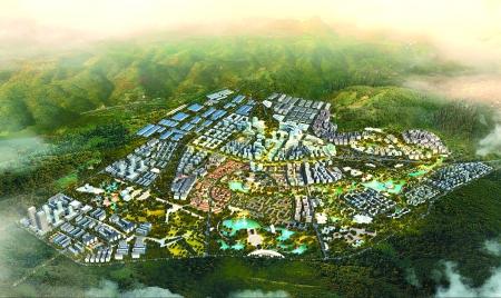 园区城市规划鸟瞰图