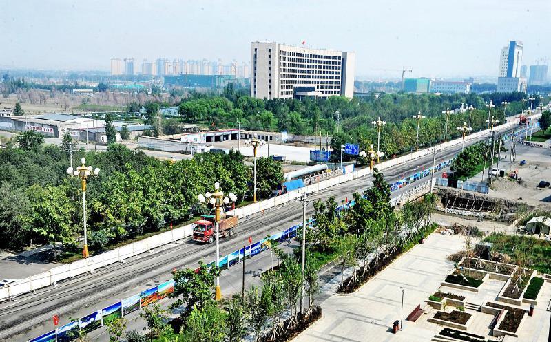 乌市BRT6号线开建图片