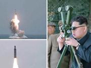 朝鲜成功发射潜射弹道导弹现场