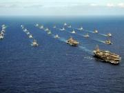 """""""环太平洋-2016""""中国海军参演舰艇与美军舰进行机动演练"""